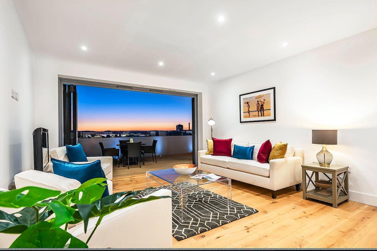 Leeward house living room